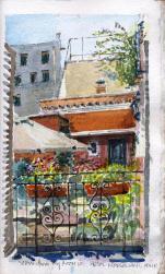 Hotel Modigliani courtyard, Rome