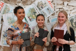 Trio of young journal makers