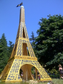 The original Eiffel Tower on Saltspring Island