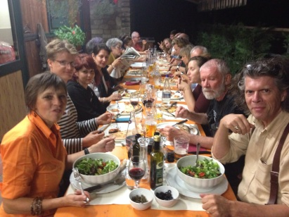 Many fine meals at the Hosteria prepared and served by Luigina