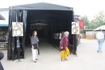 Entrance to the Teatro Stalla exhibition