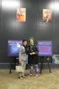with Marisa Cortes and her work, artist and curator